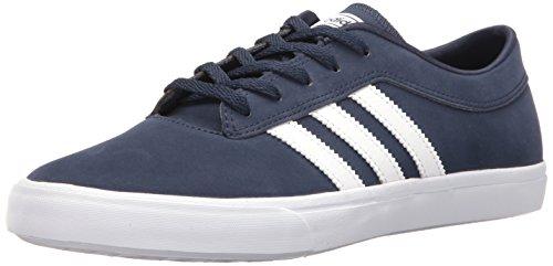 adidas Originals Men's Sellwood Fashion Sneaker Running Shoe, Collegiate Navy White, (10 M US)