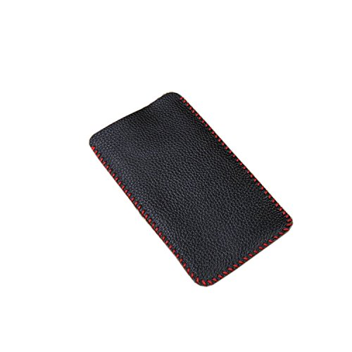 Premium High-end Full Grain Genuine Cowhide Leather Handmade iphone7plus Case Holder Sleeve Pouch in Black