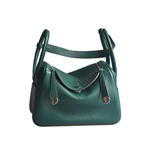 Ainifeel Women's Genuine Leather Shoulder Handbag And Purse Hobo Bag (Dark green) by Ainifeel