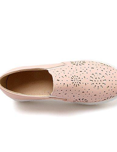 Bajo Uk3 tacón 5 Zq De us5 negro us8 semicuero Mujer Blanco Eu39 Uk6 Eu36 Black Zapatos 5 Gyht Pink Rosa punta Cn39 mocasines casual Redonda Cn35 wSqggIXxnR