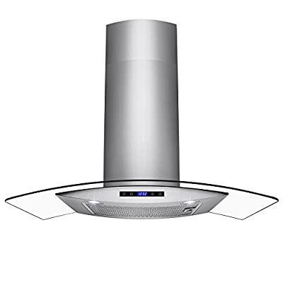 """AKDY 30"""" Wall Mount Stainless Steel Touch Panel Kitchen Range Hood Cooking Fan"""