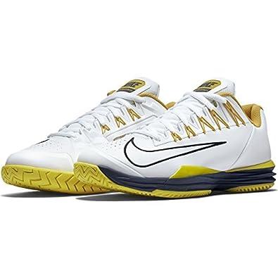 Nike Mens Lunar Ballistec 1.5 Tennis Shoes 705285 107 White/Sulfur/Yellow 10.5