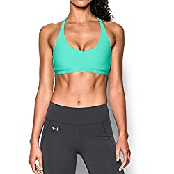 Under Armour Womens Armour Low Bra, Crystalcrystal, Large