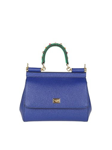 Dolce E Gabbana Women's Bb6003ai35280648 Blue Leather Handbag