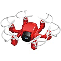 FQ777 126C , Quadcopter Drone with 2MP HD Integrated Camera 2.4Ghz 4CH 6-Axis Gyro Remote Control Drone - Headless Mode & One Key Return & 3D Flips & Rolls Nano Hexacopter Quad for Kids(Red)