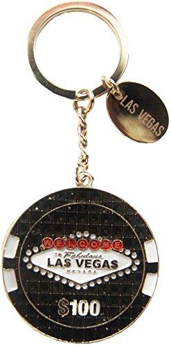 Las Vegas $100 Poker Chip Keychain