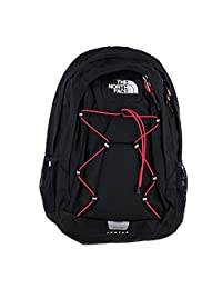 The North Face Womens Jester Laptop Backpack Book Bag TNF Black Rose RED