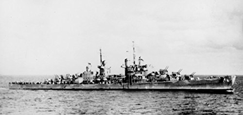 Home Comforts Canvas Print The U.S. Navy Light ant-Aircraft Cruiser USS San Juan (CL-54) at sea in 1942. The Ship is Camouflage Stretched Canvas 10 x 14