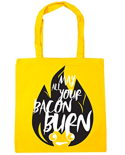 All Bag HippoWarehouse Gym 42cm 10 x38cm Your Beach litres Shopping Bacon Burn May Tote Yellow qzzF5rw