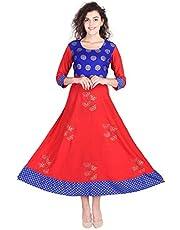 Vihaan IMPEX Indian Kurti for Women Kurta Tops Tunic Long Kurtis for Girls Anarkali Dress