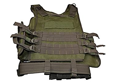 Sniper Hunting Fishing Cross Draw Vest, 600D Polyster Oxford Tactical; Army Green; Multi-Purpose