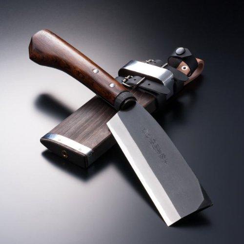 HONMAMON AZUMASYUSAKU Hatchet 165mm (abt 6.5 Inch), Blade Edge : Shirogami Steel, Double Bevel
