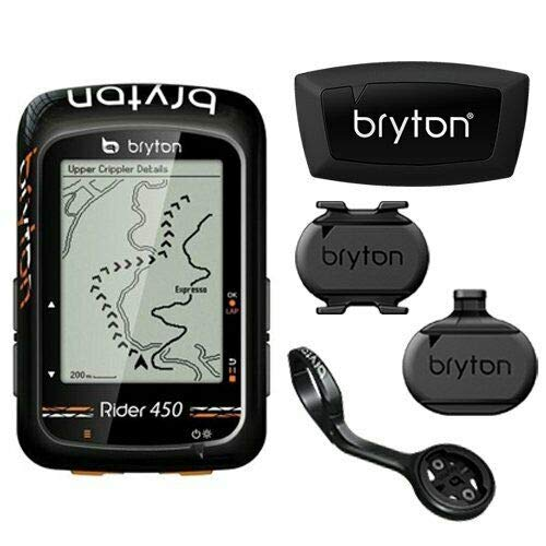 Bryton Rider 450T GPS Cycling Computer With 3 Sensors & Extension Mount #TB2974   B07PGTS8W4