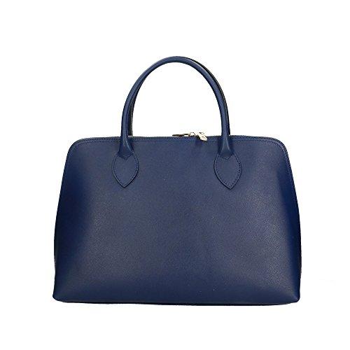 Aren Bolso de mano para mujer hecho en Italia - 37x27x12 Cm Azul Oscuro