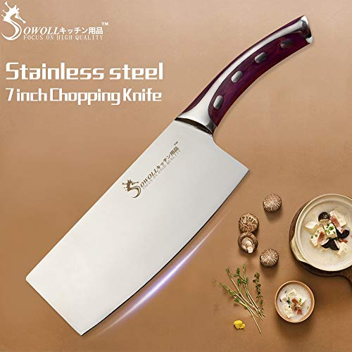 - Best Quality - Kitchen Knives - 4CR14 Stainless Steel Knife 7 inch Chopping Knife Non-stick Cooking Tool Very Sharp and Durable Kitchen Knife New Arrival - by LINAE - 1 PCs