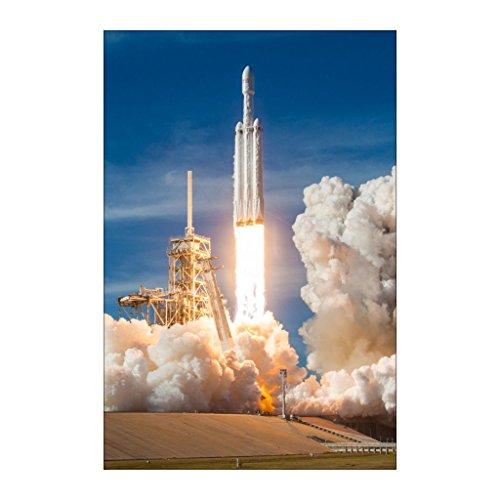 Shop Shop Usa Spacex Falcon Heavy Demo Launch Poster
