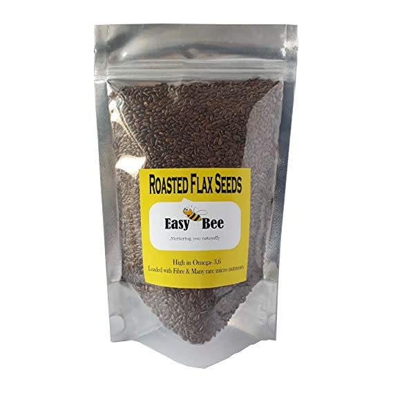 EasyBee Roasted Flax Seeds 900g for Eating for Weight Loss Salted Alsi
