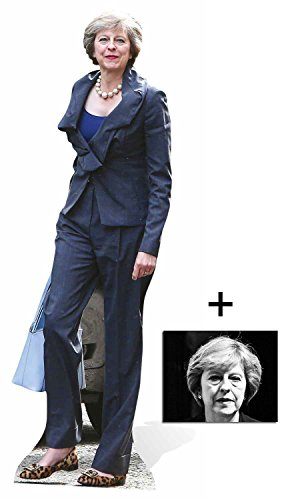 Fan Pack - Theresa May British Prime Minister Lifesize Cardboard Cutout / Standee / Stand Up - Includes 8x10 Star Photo