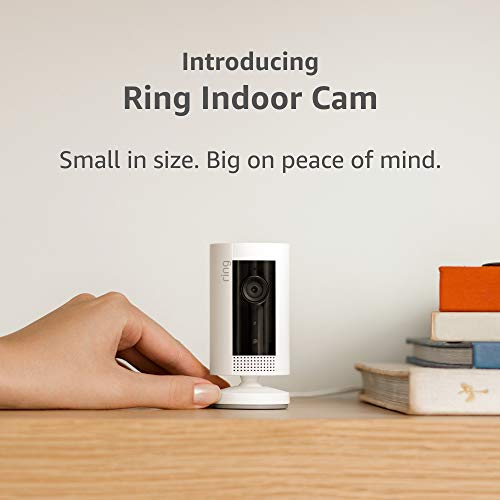 Introducing Ring Indoor Cam Compact Plug In HD security camera with two way talk White Works with Alexa  product image