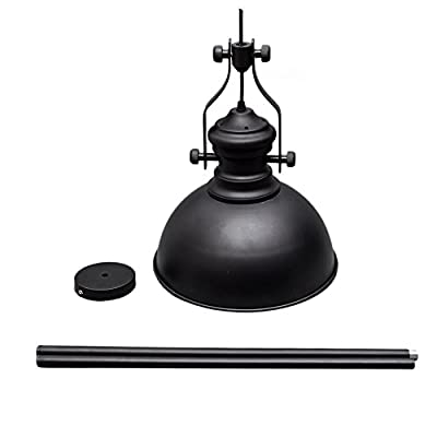 Retro Industrial Black Metal Pendant Lighting Fixture Vintage Pendant Light Shade Ceiling Lamp for Home,Kitchen,Bar,Cafe (60w,Chandelier Lampshade, E27 Base)