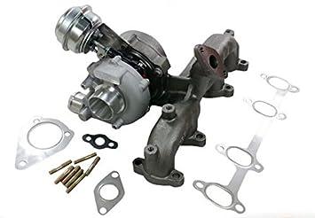 GOWE motor turbo 713672 - 9006S 713672 - 0002 768329 - 5001S 713673 - 5006S 038253019 A GT1749 V turbocompresor para VW Audi AHF AJM AUY Motor: Amazon.es: ...