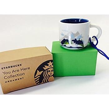 alaska starbucks you are here ornament 2oz cup
