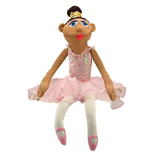 Melissa & Doug Ballerina Puppet - Full-Body With Detachable Wooden Rod for Animated Gestures