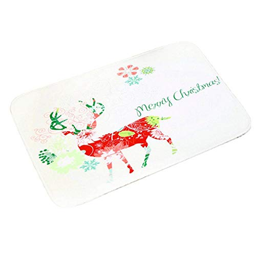 Noon-Sunshine decorative-plaques Merry Christmas Door Mat Santa Claus Flannel Outdoor Carpet Christmas Decorations for Home Xmas Party Favors Year,Style 10 -