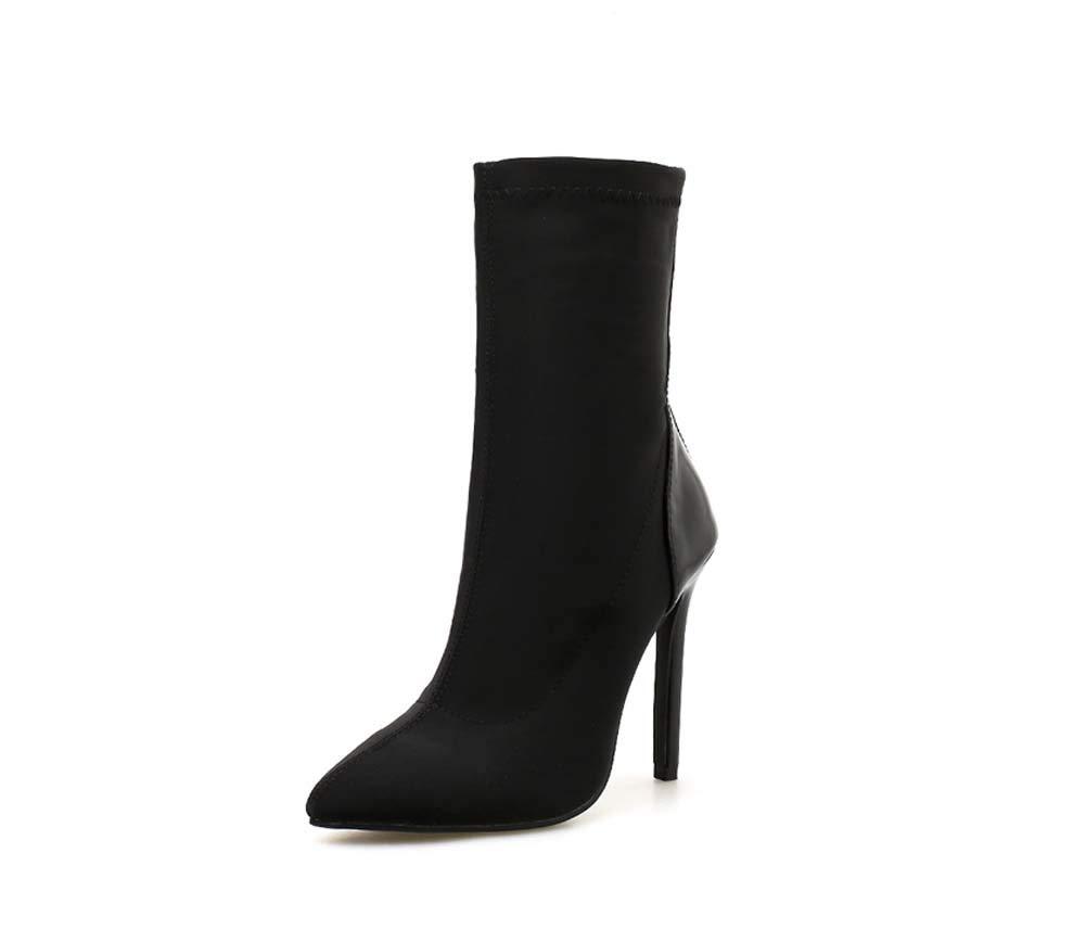 HYLFF damen Stretch High Stiletto Heel Ladies Pointed Toe Ankle Stiefel Schuhe Party Klassiker