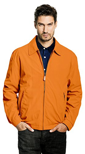 London Fog Men's Auburn Zip-Front Golf Jacket (Regular & Big-Tall Sizes), sunset, Medium (Weekender Coat)