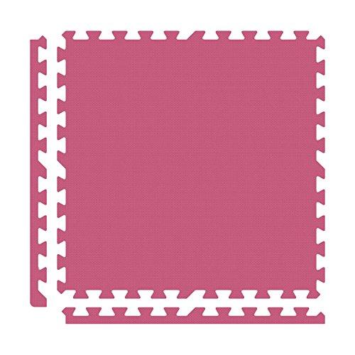 Alessco EVA Foam Rubber Interlocking Premium Soft Floors 30' x 30' Set Pink