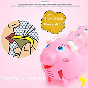 Balight Cute Electric Music Walking Pig LED Light Glow Electronic Pets Children's Educational Interactive Toys