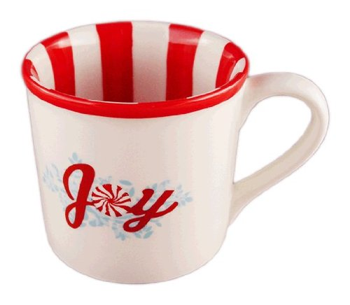 Starbucks Holiday STRIPE SWEETS JOY Coffee Mug 14 oz