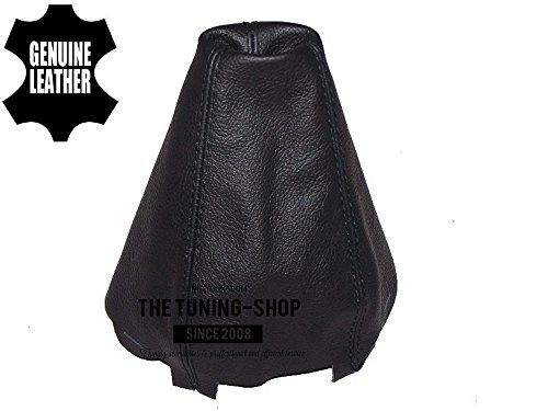 (The Tuning-Shop Ltd Fits Audi A4 B6 2001-2004 Shift Boot Custom Made Shift Boot Black Genuine Italian Leather With Black Stitching )
