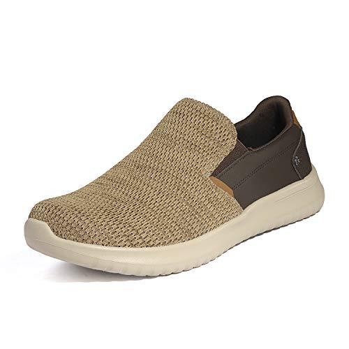 Bruno Marc Men's Slip On Walking Shoes Walk-Work-02 Khaki Size 13 M US