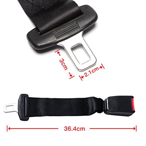 Adjustable Seat Belt Extender - E11 Safety Certified(7/8'' Metal Tongue)- Retractable Seat Belt Extension-2 Packs by Fullsexy (Image #2)