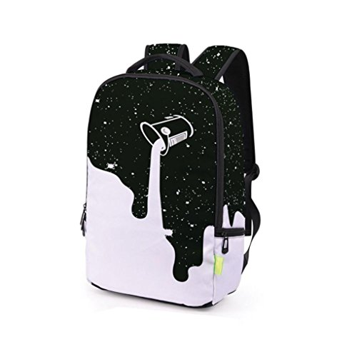 Price comparison product image Fashion Backpack, Realdo Women Men 3D Galaxy Travel Satchel Rucksack Shoulder Bookbag School Bag