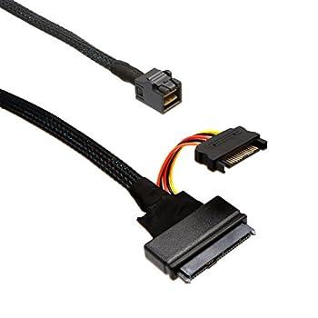 IO Crest SI-CAB40120 U.2 SFF-8639 NVMe PCIe to Mini SAS SFF-8643 SSD Cable, Length 90cm