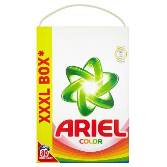 Ariel Color Compact Laundry Detergent Powder [Authentic European] - 80 Wash  Loads (5 6kg = 8kg)