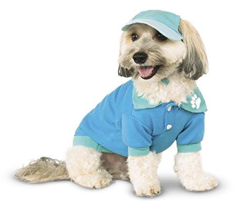 Blue Polo Shirt for Pet, Medium (Preppy Halloween Costumes)