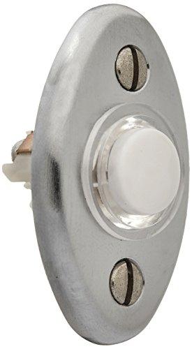 Satin Chrome Doorbell - Baldwin 4852264 Oval Bell Button, Satin Chrome