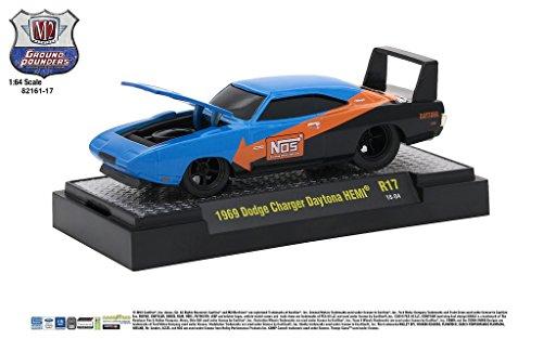 M2 Machines Ground Pounder Release 17 1969 Dodge Charger Daytona HEMI Blue