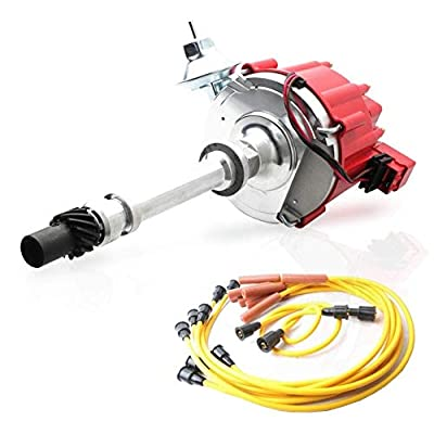 MOSTPLUS Distributor & Spark Plug Wires Ignition Combo Kit For Chevy SBC 350 BBC 454 HEI 850002 D1002: Automotive [5Bkhe0811306]