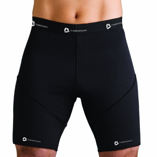 (Thermoskin Athletic Compression Shorts, Black, XX-Large)