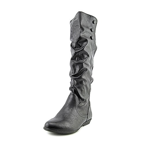 Cliffs by White Mountain Womens Fighter Slouch Boot Black Smooth Synthetic MY2HE
