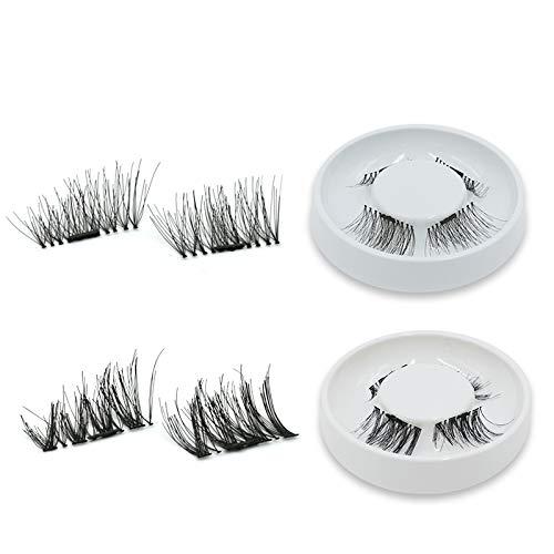 Amazon.com : 3D Magnetic Mink Eyelashes With 3 Magnets Eyelash False Eyelashes Handmade Fake Eye Lashes Reusable Make Up 102 : Beauty
