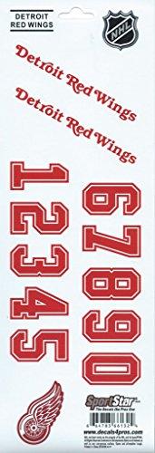 HCW-Detroit-Red-Wings-SportsStar-NHL-Hockey-Helmet-Decals-Sticker-Sheet