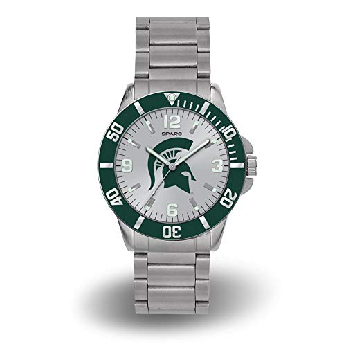 Rico Michigan State Spartans NCAA Key Watch with Stainless Steel Band ()