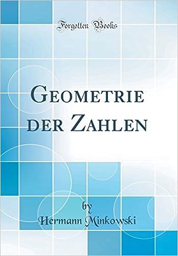 Book Geometrie Der Zahlen (Classic Reprint) (German Edition)
