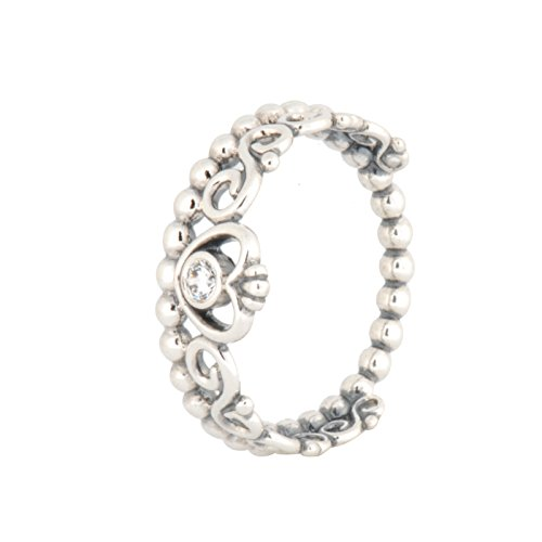 PANDORA My Princess Ring in 925 Sterling Silver w/ Clear Cubic Zirconia 6 (US), 190880CZ-52 (EUR) - Pandora Stackable Rings